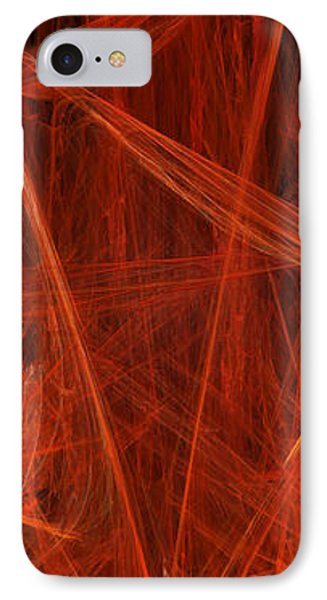 Dancing Flames 1 V - Panorama - Abstract - Fractal Art Phone Case by Andee Design