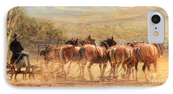 IPhone Case featuring the digital art  Days In The Dust by Trudi Simmonds