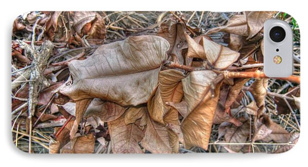 IPhone Case featuring the photograph  Dead Leaves by Michelle Meenawong