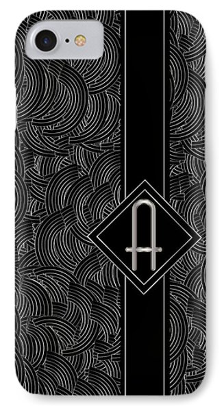 Deco Jazz Swing Monogram ...a IPhone Case by Cecely Bloom