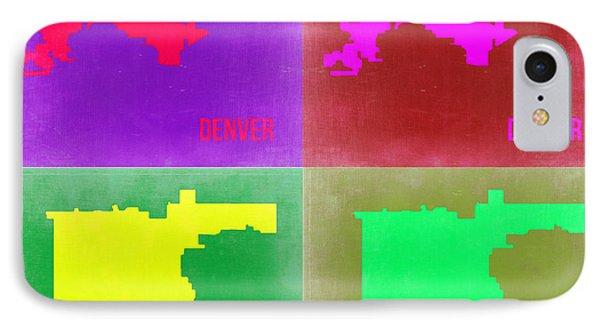 Denver Pop Art Map 2 Phone Case by Naxart Studio