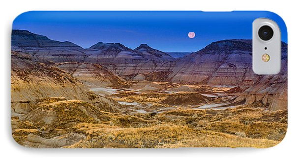 IPhone Case featuring the photograph  Dinosaur Harvest Moon by Rob Tullis