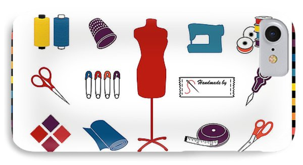 Do It Yourself Sewing Tailoring And Crafts IPhone Case by J M Designs