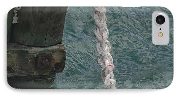 Dock Rope And Wood IPhone Case by Loriannah Hespe