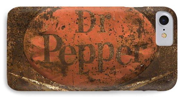 Dr Pepper Vintage Sign IPhone Case by Bob Christopher