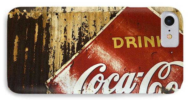 Drink Coca Cola  Memorbelia IPhone Case by Bob Christopher