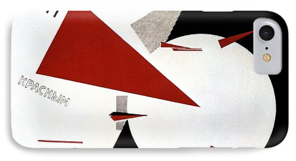 Drive Red Wedges In White Troops 1920 Phone Case by Lazar Lissitzky