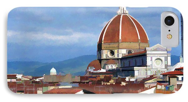 IPhone Case featuring the photograph  Duomo Of Florence # 3 by Allen Beatty
