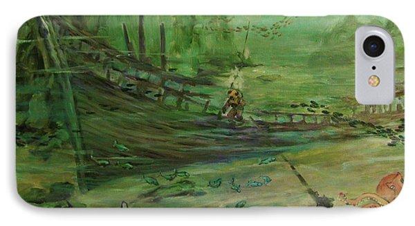 IPhone Case featuring the painting  El  Explorador  1 by Beth Arroyo