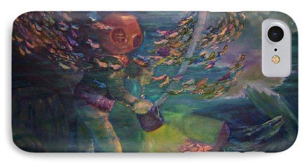 IPhone Case featuring the painting  El Explorador  2 by Beth Arroyo