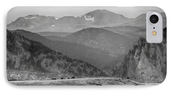 Eldorado Canyon And Continental Divide Above Bw Phone Case by James BO  Insogna