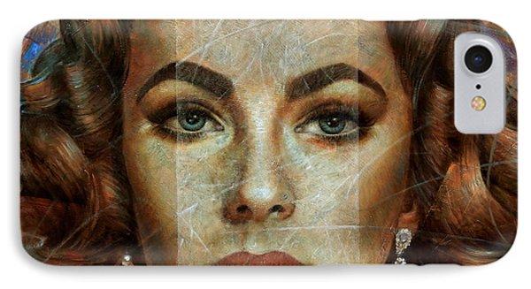 Elizabeth Taylor IPhone 7 Case by Arthur Braginsky