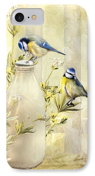 English Blue Tits IPhone Case by Trudi Simmonds