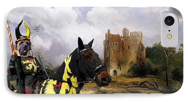English Mastiff  - Mastiff Art Canvas Print - The Ruins Home IPhone Case by Sandra Sij
