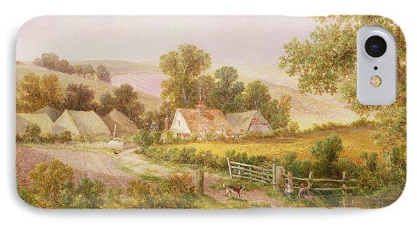 Farmyard Scene Phone Case by C L Boes