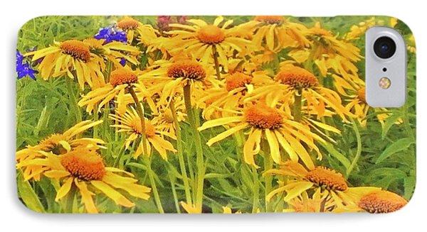 Field Of Fall Flowers IPhone Case by Marsha Heiken