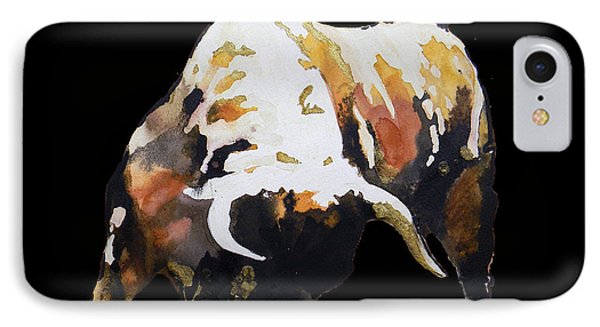 Fight Bull In Black IPhone Case