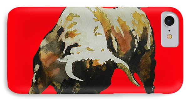 Fight Bull In Red IPhone Case