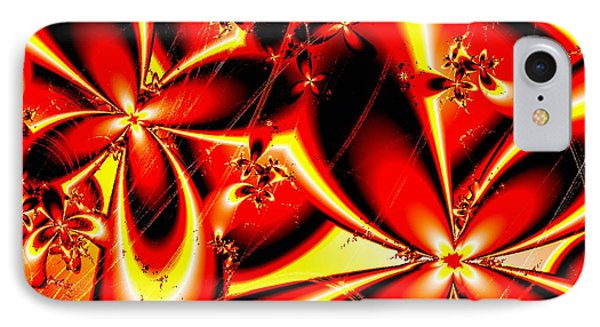 Flaming Red Flowers IPhone Case by Anastasiya Malakhova