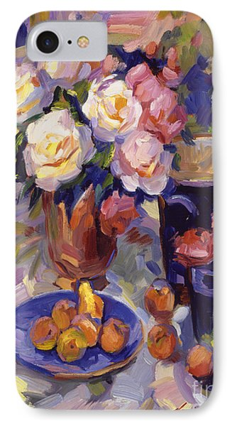 Flowers And Fruit At Montecito IPhone Case by David Lloyd Glover