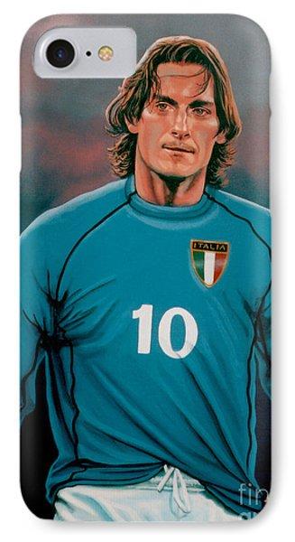 Francesco Totti 2 IPhone Case by Paul Meijering