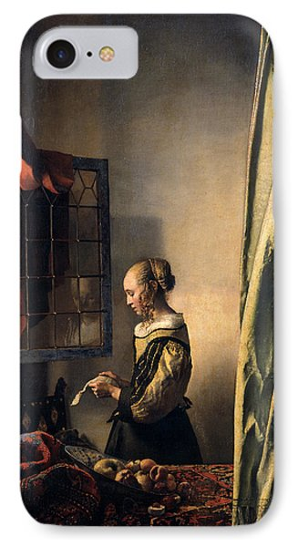 Girl Reading A Letter By An Open Window Phone Case by Johannes Vermeer