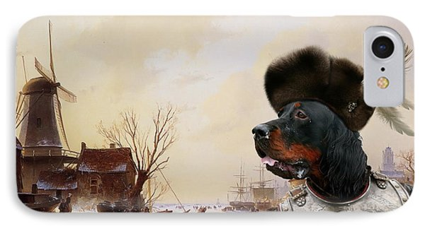 Gordon Setter Art Canvas Print - IPhone Case by Sandra Sij