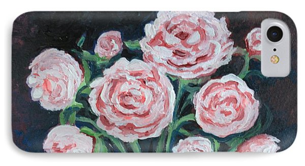 IPhone Case featuring the painting  Graceful Peonies by Elizabeth Robinette Tyndall