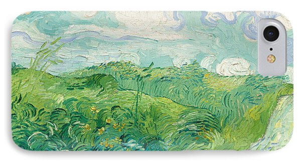 Green Wheat Fields Auvers IPhone Case by Vincent van Gogh