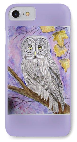 Grey Owl IPhone Case