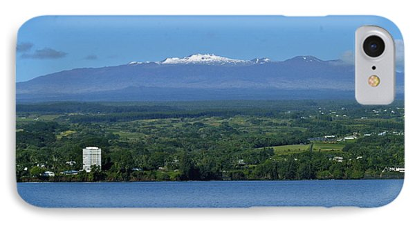 IPhone Case featuring the photograph  Hawaii's Snow Above Hilo Bay Hawaii by Lehua Pekelo-Stearns
