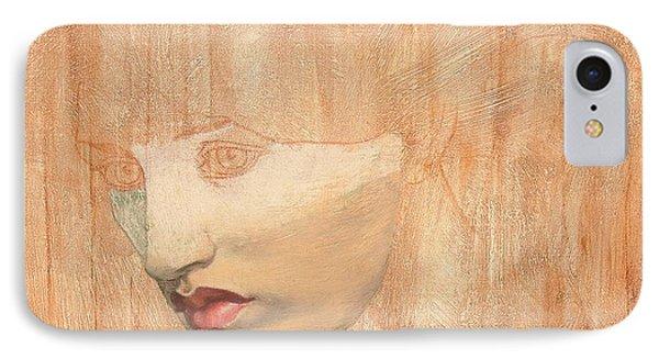 Head Of Proserpine IPhone Case by Dante Charles Gabriel Rossetti