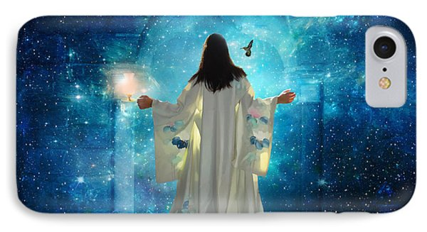 Heavens Door IPhone Case by Dolores Develde