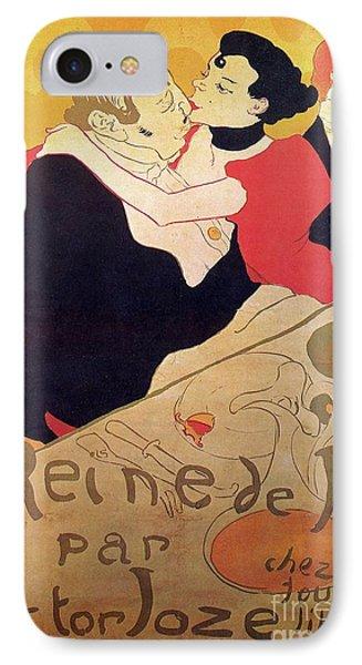 Henri De Toulouse Lautrec 1864 1901 French Painter Reine De Joie 1892 IPhone Case