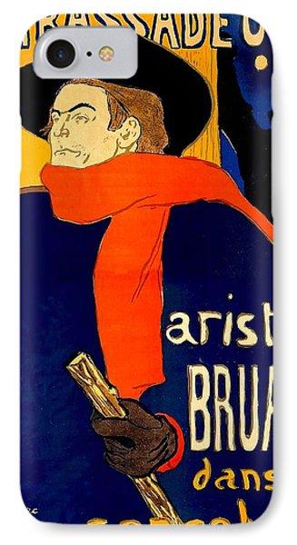 Henri De Toulouse Lautrec French 1864 1901 Aristide Bruant Dans Son Cabaret 1892 IPhone Case