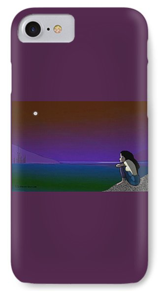 075 - Sitting At The Edge Of The Bay IPhone Case by Irmgard Schoendorf Welch