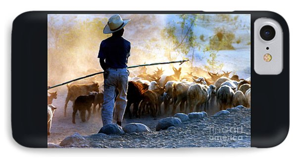 Herder Going Home In Mexico IPhone Case by Phyllis Kaltenbach