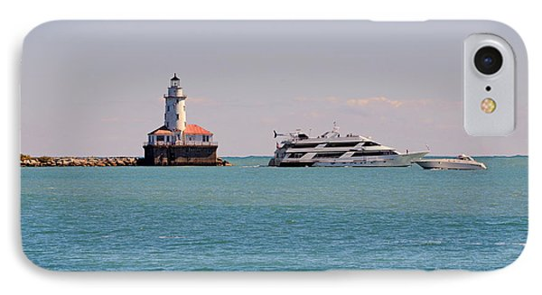 Historical Chicago Harbor Light IPhone Case by Christine Till