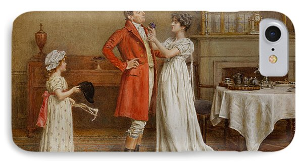 I Wish You Luck Phone Case by George Goodwin Kilburne