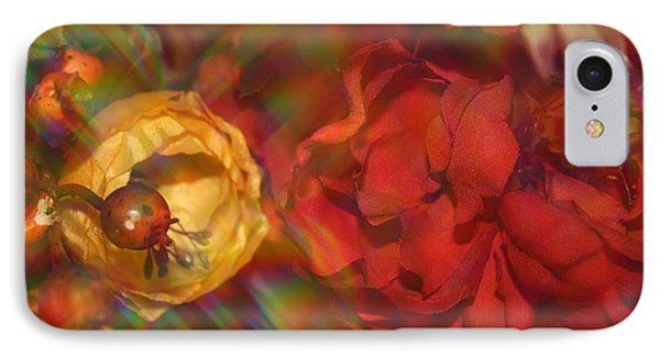 IPhone Case featuring the photograph  Impressionistic Bouquet Of Red Flowers by Dora Sofia Caputo Photographic Art and Design