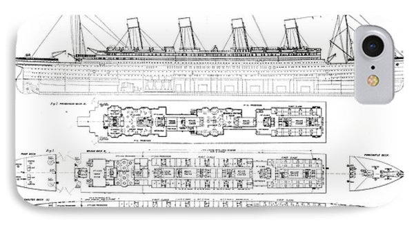 Inquiry Into The Loss Of The Titanic Cross Sections Of The Ship  IPhone Case by English School