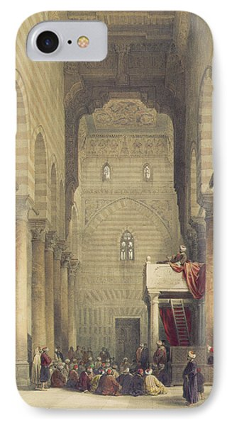 Interior Of The Mosque Of The Metwalys IPhone Case by David Roberts