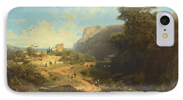 Italian Landscape IPhone Case by Celestial Images