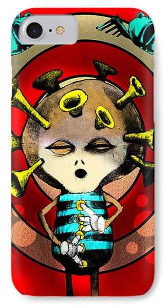 Jazzplayer IPhone 7 Case by Johan Lilja