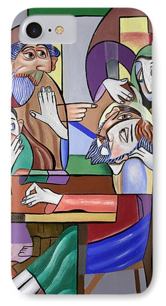 Jesus Anointed At Bethany Phone Case by Anthony Falbo