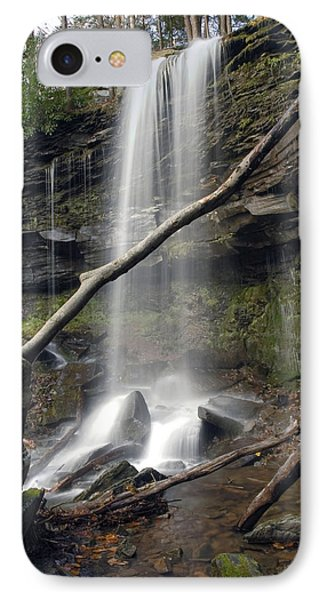 IPhone Case featuring the photograph  Jocaby Falls Behind The Fallen Trees by Gene Walls