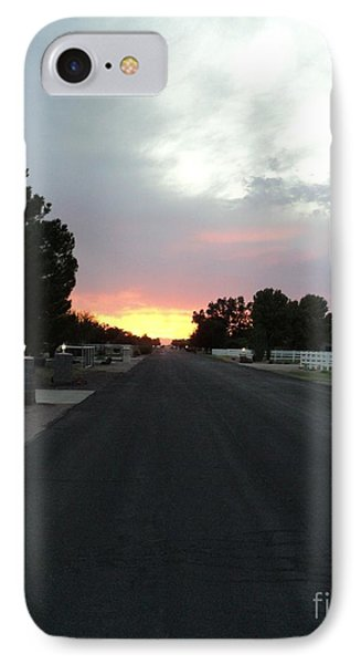 IPhone Case featuring the photograph  Journey Into The Sunset by Carla Carson