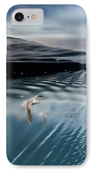 Journey With A Sea Gull IPhone Case by Gary Warnimont
