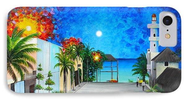 Light House Playa Del Carmen IPhone Case by Angel Ortiz