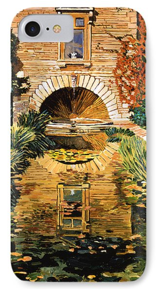 Lily Pond And Fountain IPhone Case by David Lloyd Glover